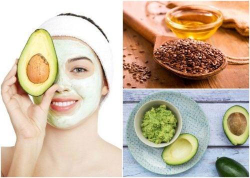 Alivia la piel sensible con una mascarilla casera de aguacate y linaza