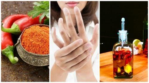Aceite de cayena para aliviar el dolor en las articulaciones