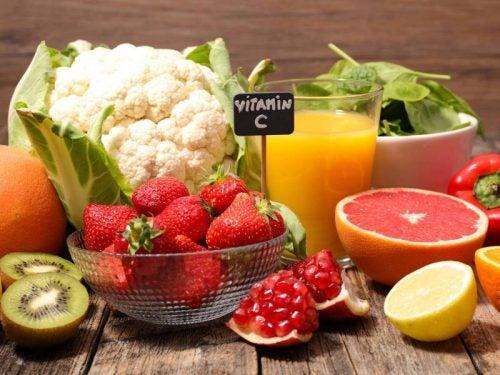 Frutas y verduras cargadas de vitamina C