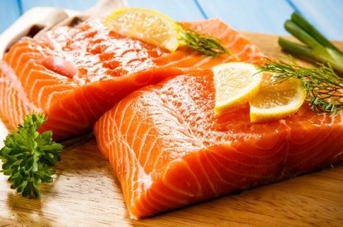 salmón para las dietas