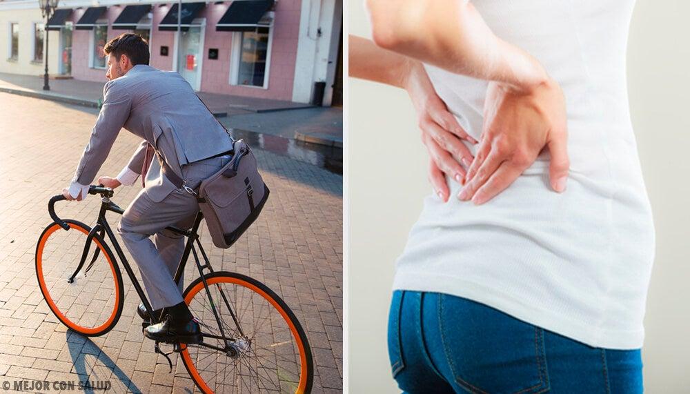 3 consejos para combatir el dolor de espalda de la bicicleta