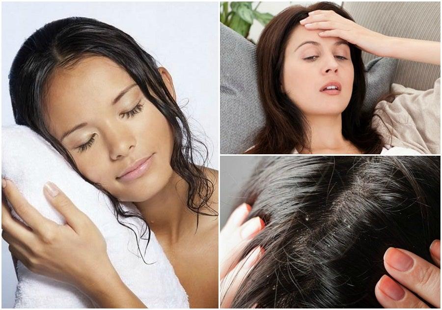 8 problemas de salud que pueden producirse por dormir con el cabello húmedo