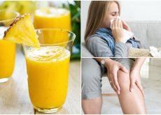 Cómo combatir el resfriado y la inflamación con un batido de piña, jengibre y cúrcuma
