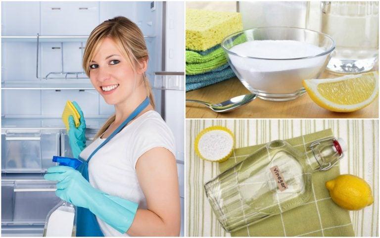 Cómo limpiar y desinfectar la nevera usando 5 soluciones caseras