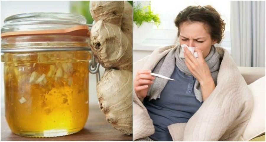Combate el resfriado con este jarabe casero de miel y jengibre