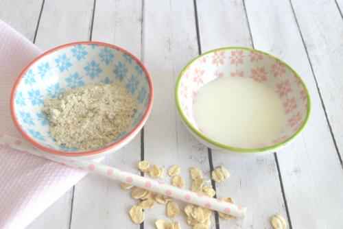 Exfoliante de avena y suero de leche