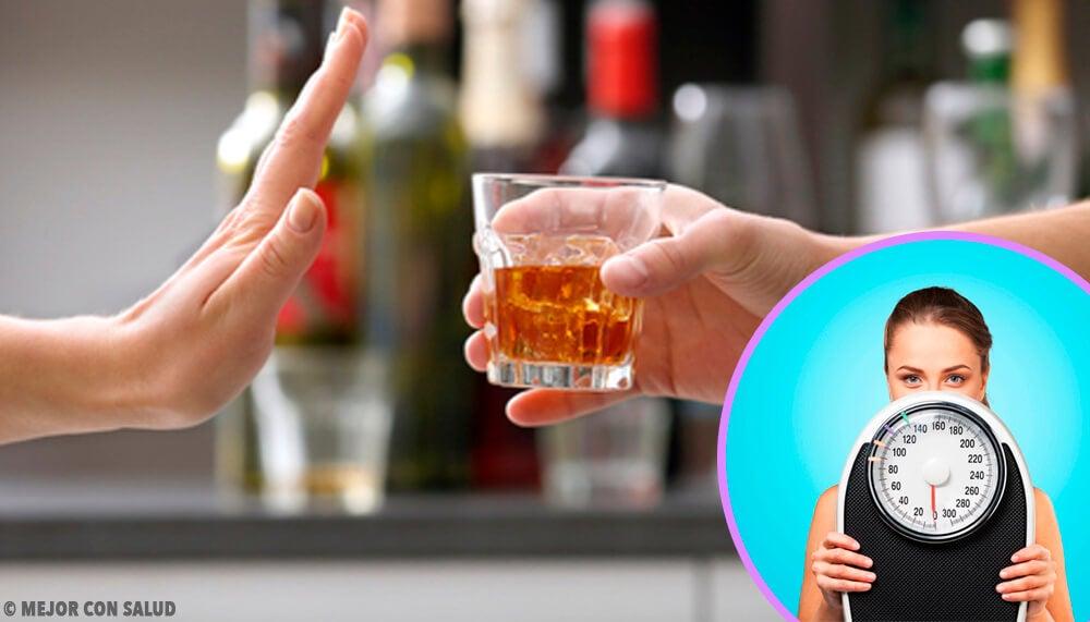 ¿Hay que dejar de beber alcohol para bajar de peso?