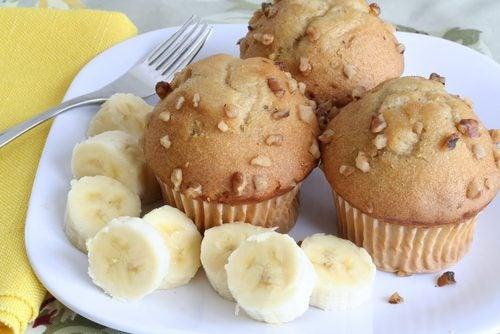Muffins de plátano con cacao