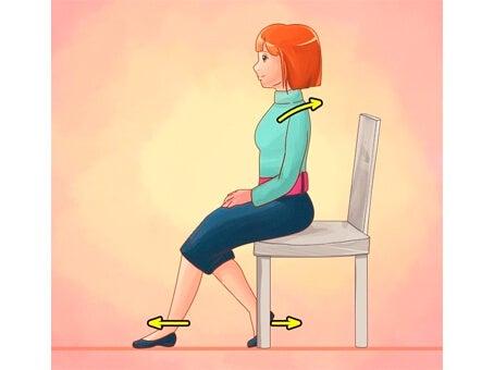 Borde de una silla