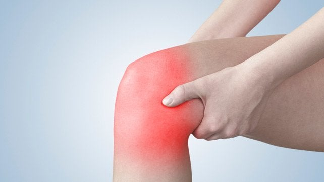 Persona con dolor de rodilla