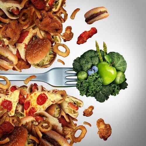 Alimentos con grasas.
