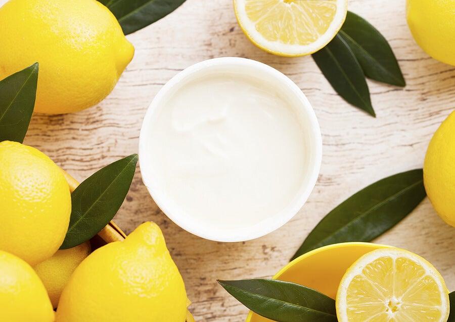 Utilidades de la mascarilla de yogur y limón