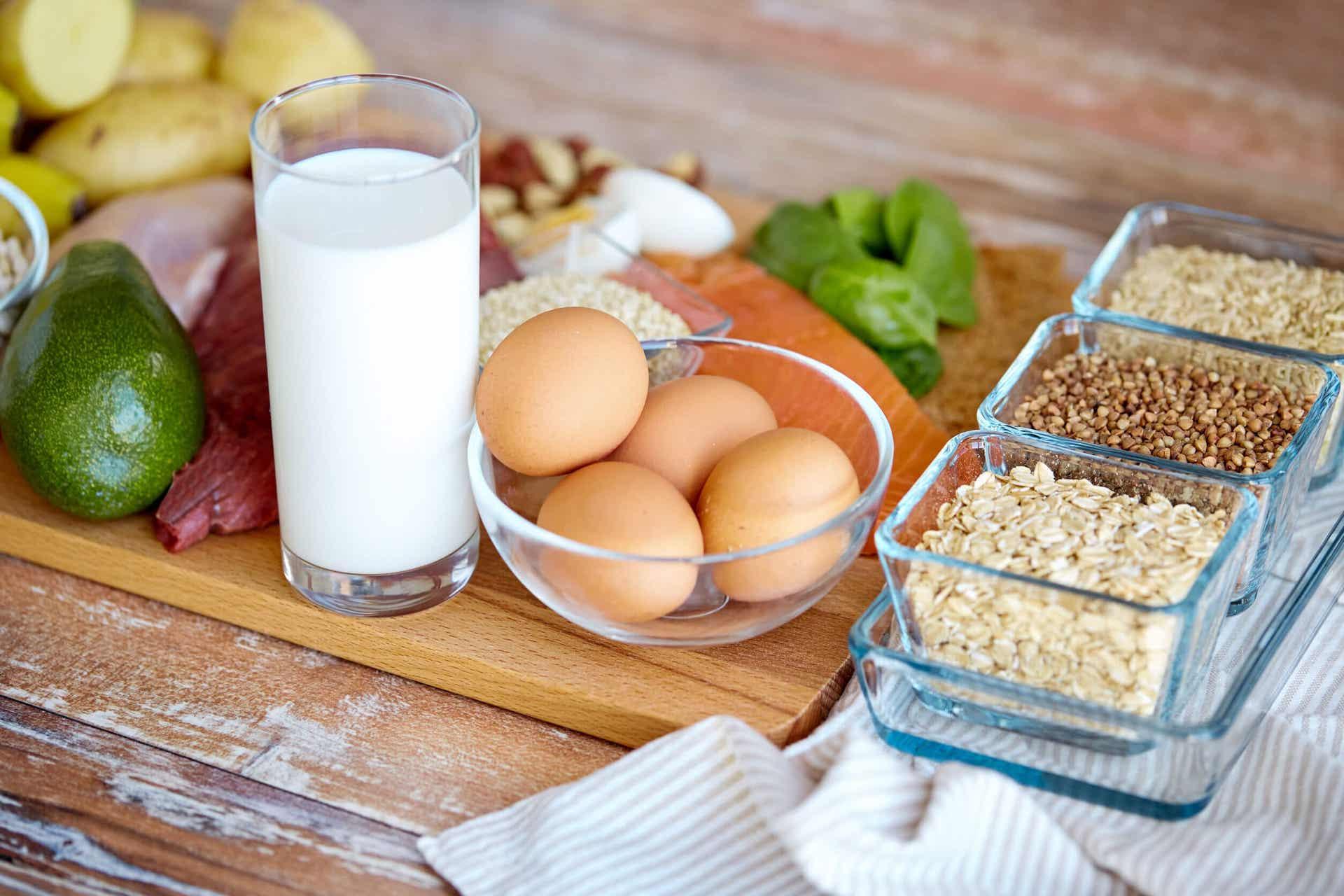 Proteínas de los alimentos.