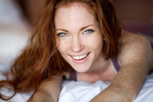 redhead with freckles