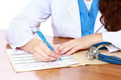prescripción de un médico
