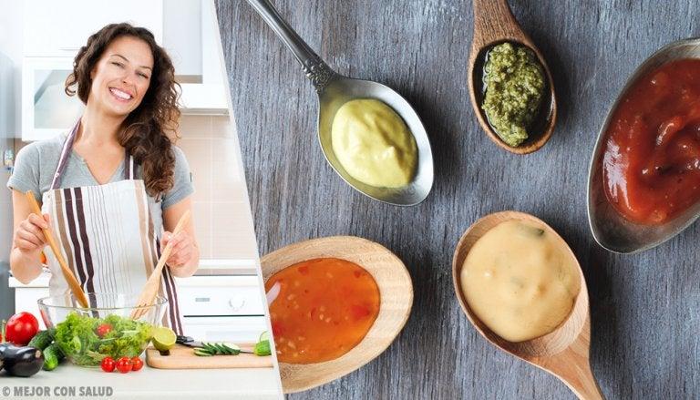 4 salsas saludables para acompañar tus comidas