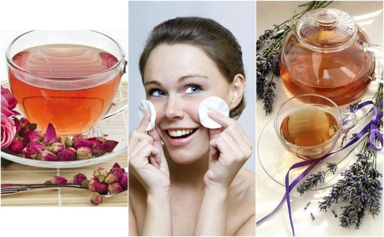 5 infusiones naturales que puedes usar como tónico para el rostro