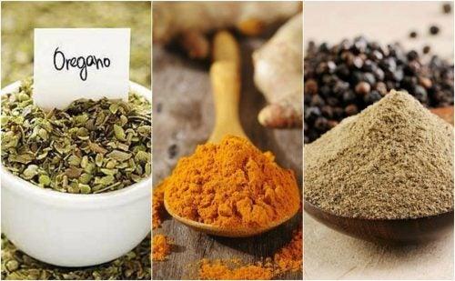 8 especias que puedes utilizar para sustituir la sal