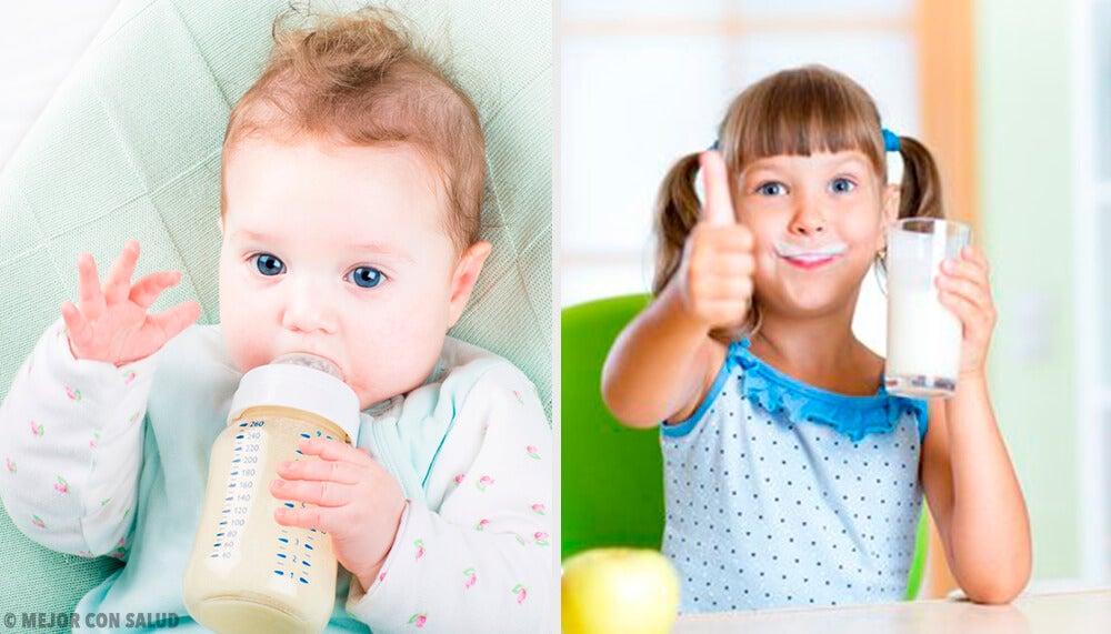 ¿Cuál es la leche para niños más saludable?