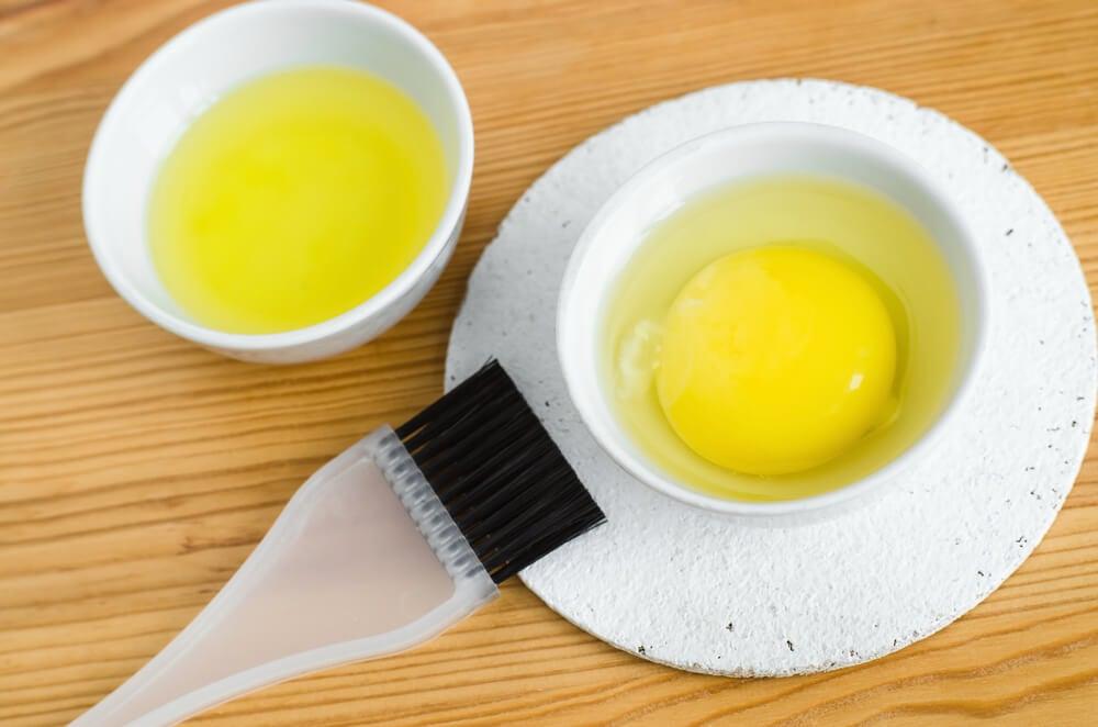 Mascarilla de naranja y clara de huevo