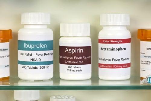 Ibuprofeno, aspirina y acetominofeno