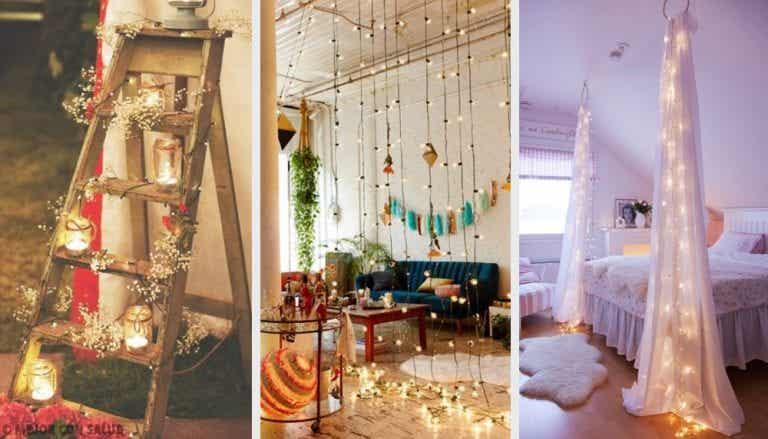 10 fabulosas ideas para decorar con luces en casa