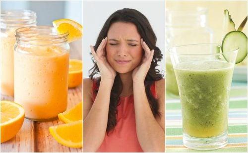 Cómo combatir la migraña de forma natural con 5 deliciosos licuados
