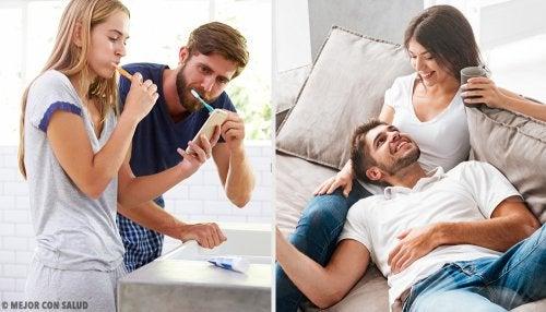 El contagio de las bacterias entre parejas