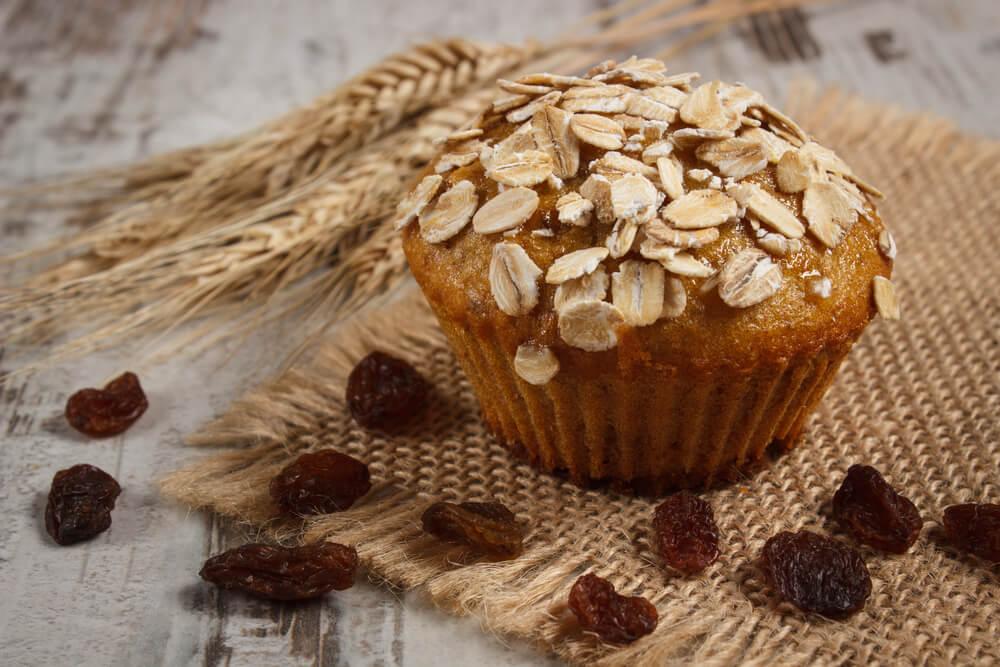 Magdalenas de avena, nutritivas, sin gluten y sin lactosa