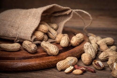Frutos secos: cacahuetes