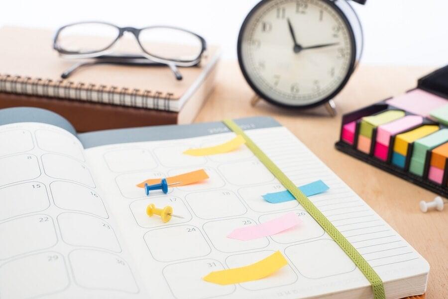Organiza bien tu agenda