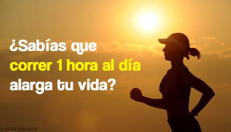 ¿Sabías que correr 1 hora al día alarga tu vida?