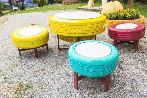 8 Formas De Utilizar Neumáticos Viejos Mejor Con Salud
