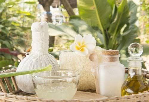 Tratamiento de levadura de cerveza, aceite de coco y aloe vera