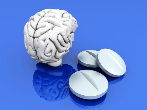 Modelo del cerebro y fármacos ansiolíticos