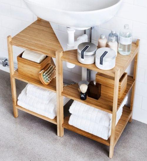 decorar-baño-estanterías