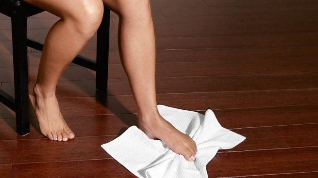 Ejercicio con toalla espolón