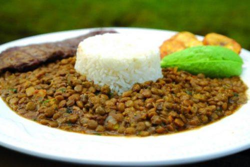 lentejas y arroz