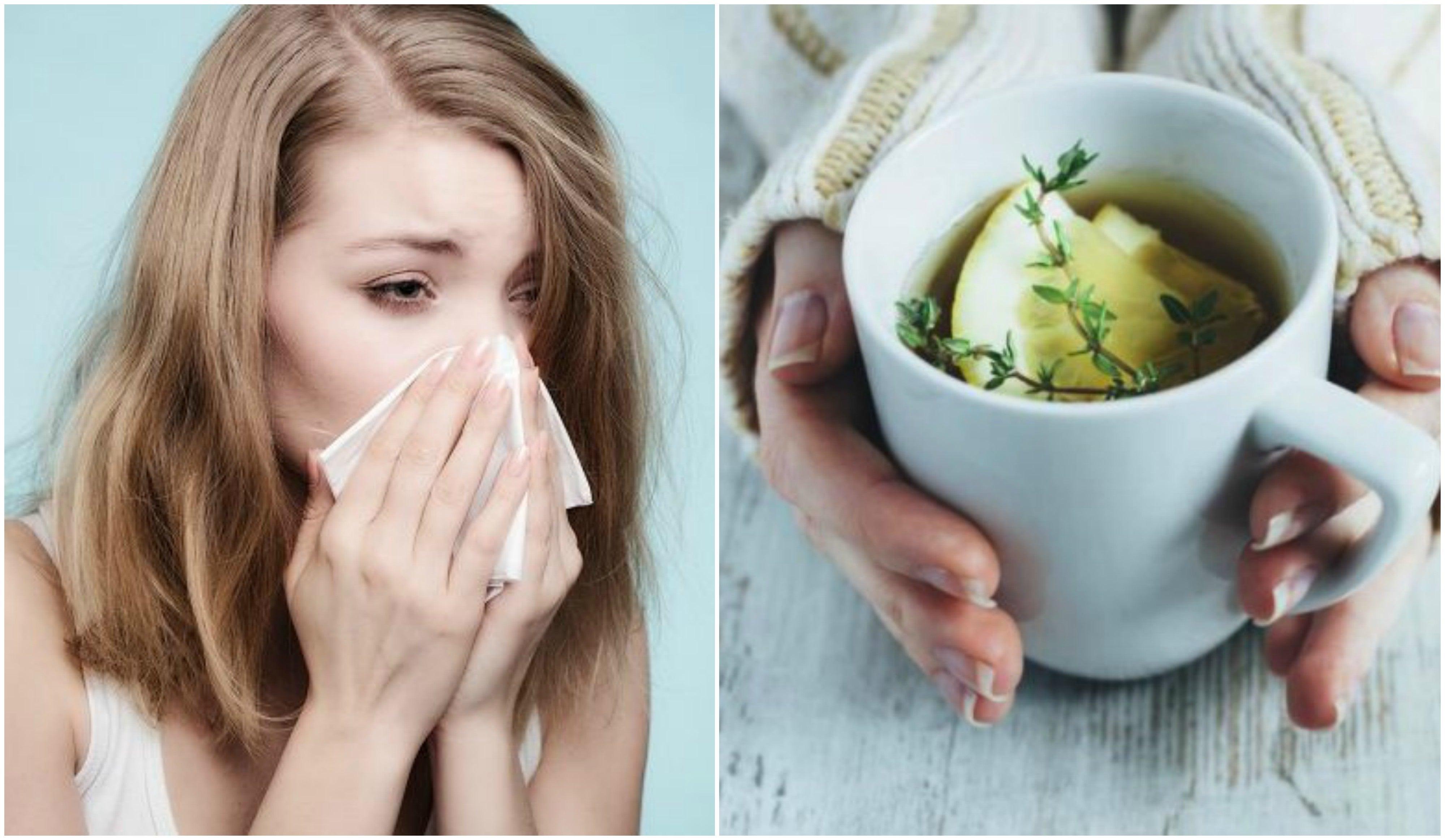 Alivia la tos y el resfriado con una infusión de tomillo, limón y ...