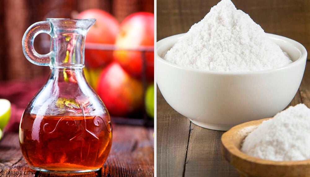 Bbicarbonato de sódio e vinagre de maçã