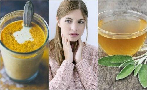 Calmar la garganta irritada con ingredientes naturales