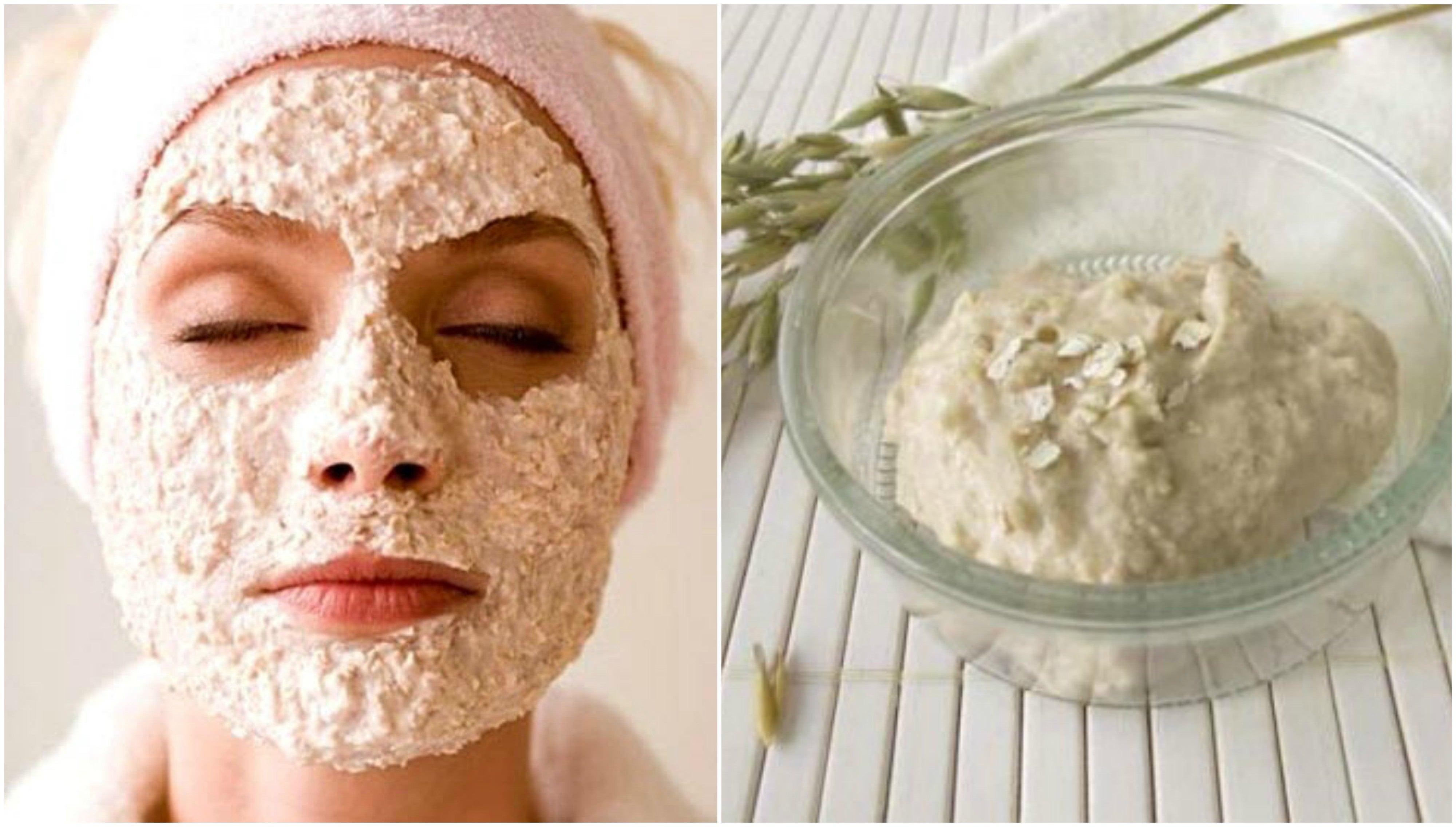 Iogurte e máscara de aveia para desintoxicar a pele do seu rosto