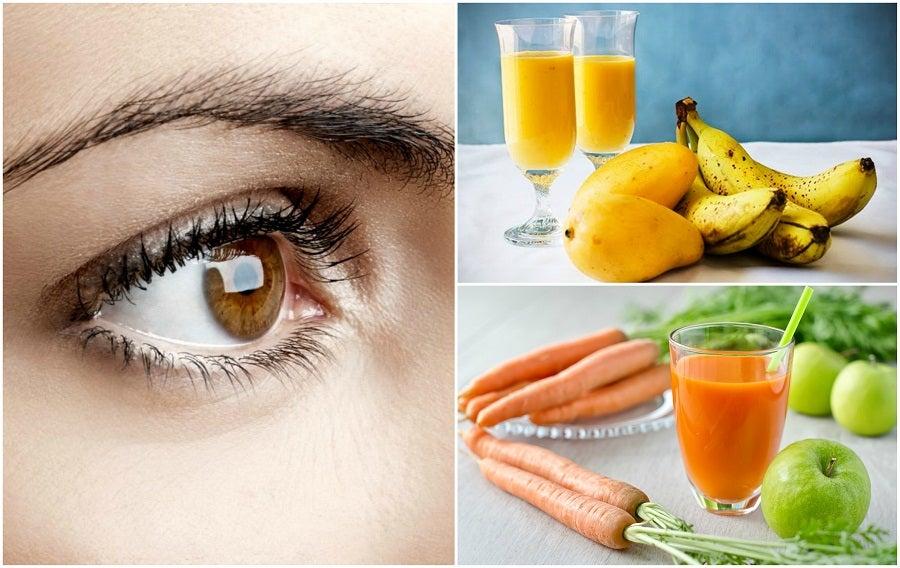 Prepara 5 jugos naturales para fortalecer tu salud visual