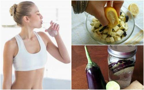 Cómo preparar agua de berenjena y limón para perder peso