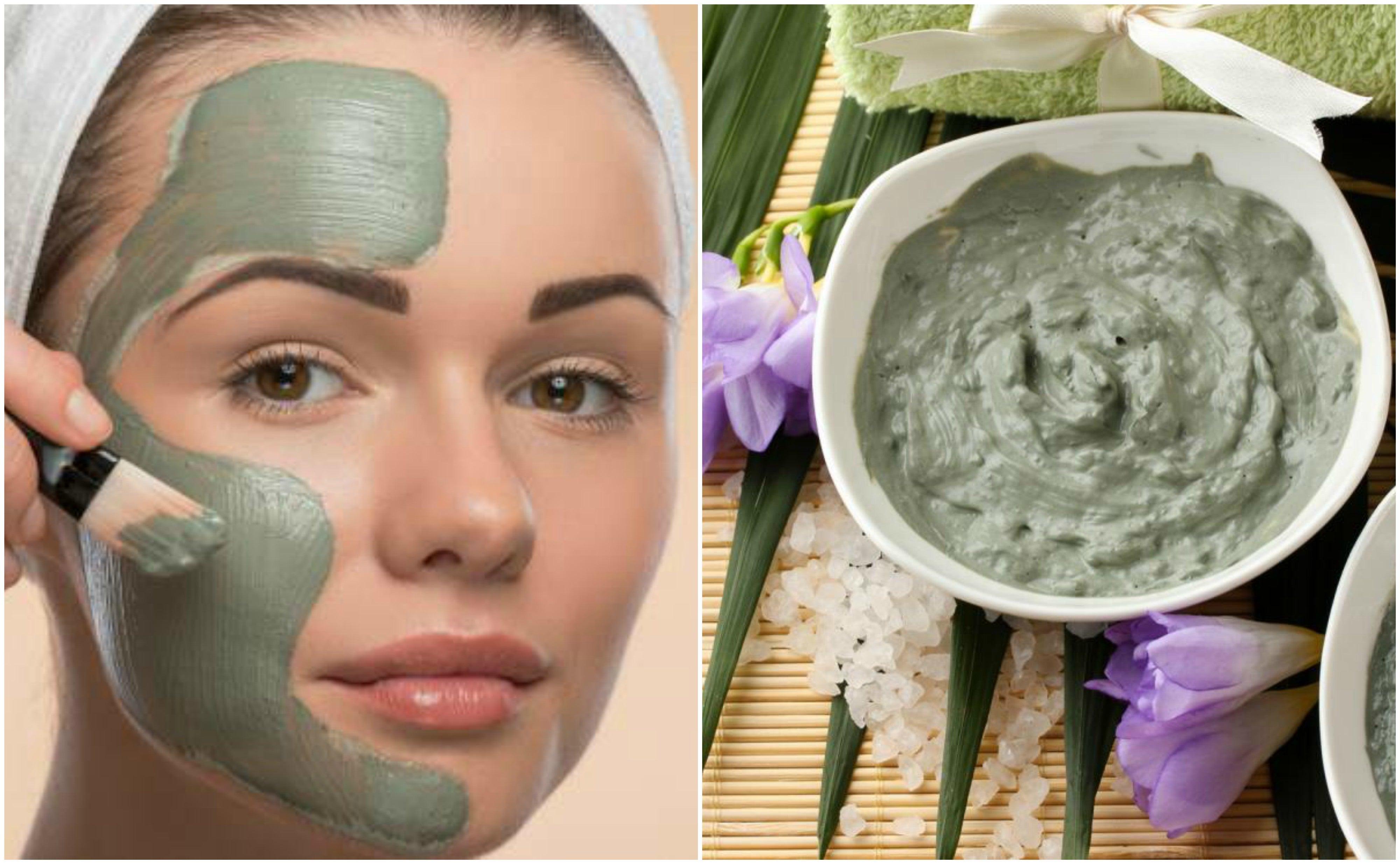 Mascarilla facial de arcilla verde y aceite de coco