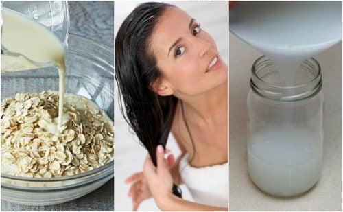 Cómo revitalizar el cabello con un acondicionador casero de arroz y avena