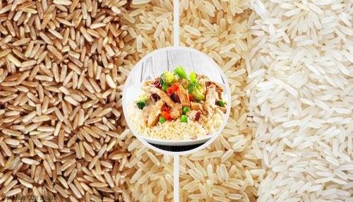 dieta basada en arroz rojo