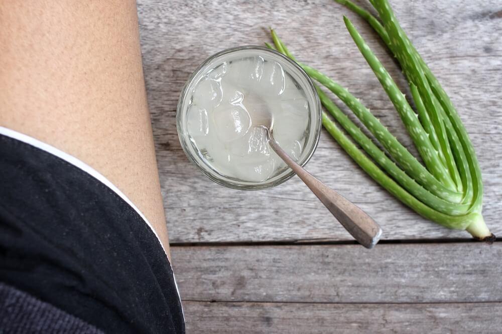 Gel de aloe vera para curar rasguños