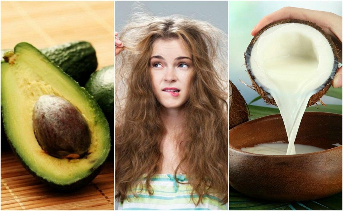 tratamiento casero para el cabello seco y con frizz