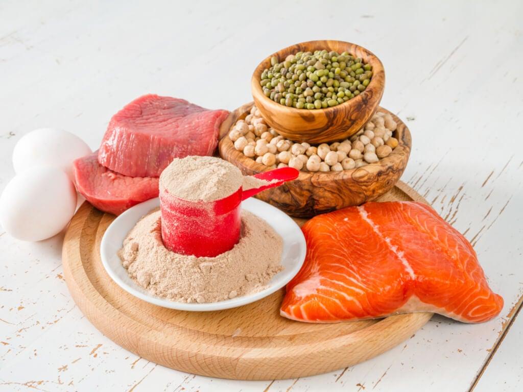 Grupo de alimentos con proteína en una dieta disociada